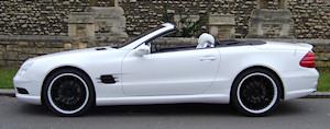 Vinyl wrap white Mercedes SL